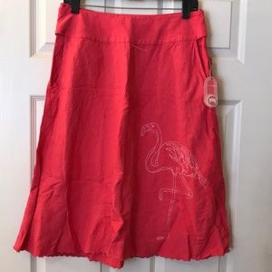 Aaron Chang flamingo skirt